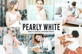 Pearly White Mobile & Desktop Lightroom Presets KTL23YL 4