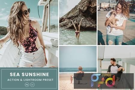 Sea Sunshine Action & Lightrom Presets DN3YWPV 1