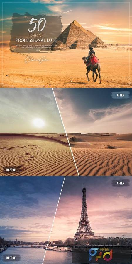 50 Drone LUTs and Presets Pack 8MRU9VH 1
