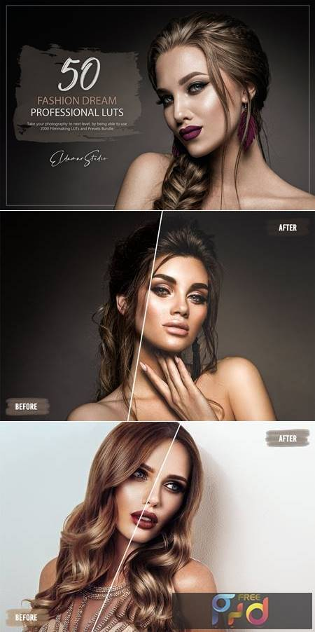 50 Fashion Dream LUTs and Presets Pack N82DRKV 1