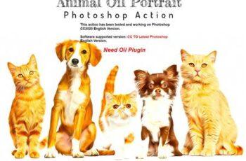Animal Oil Portrait PS Action 6346067 8