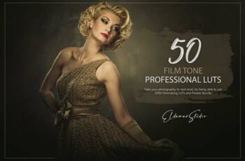 50 Film Tone LUTs and Presets Pack RGNJ995 4
