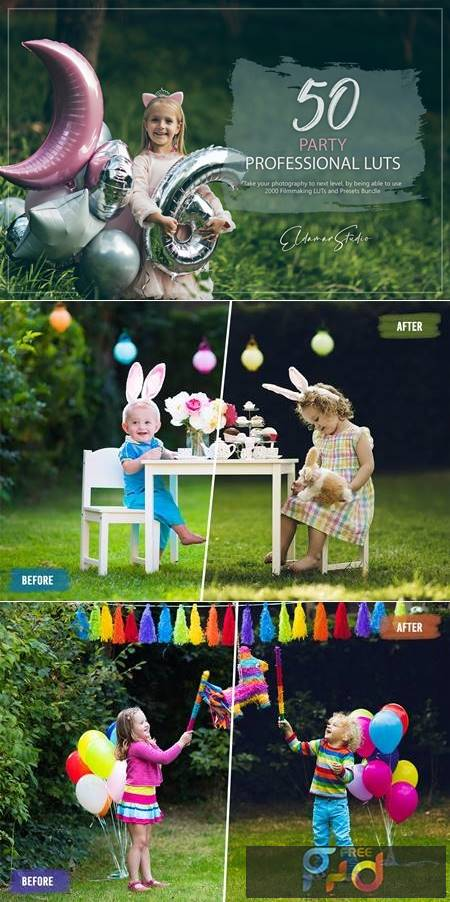 50 Party LUTs and Presets Pack SMC6R37 1
