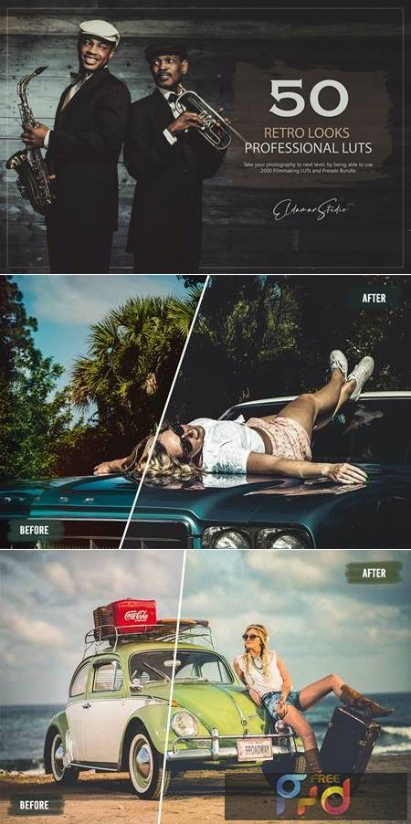 50 Retro Looks LUTs and Presets Pack KTEC5SQ 1