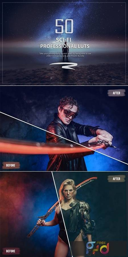 50 Sci-Fi LUTs and Presets Pack 6WCBX92 1