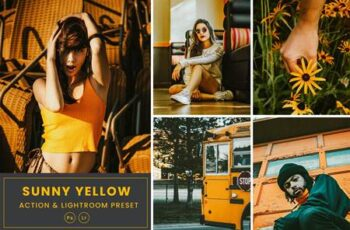 Sunny Yellow Action & Lightrom Presets PC6XPTN 3