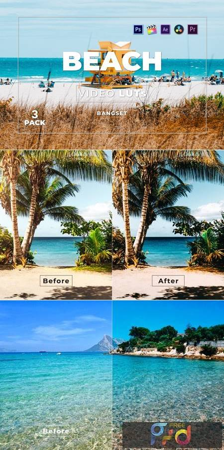 Bangset Beach Pack 3 Video LUTs 4PY2PYS 1