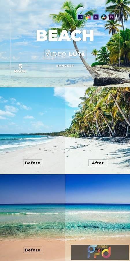 Bangset Beach Pack 5 Video LUTs LVWRAUA 1