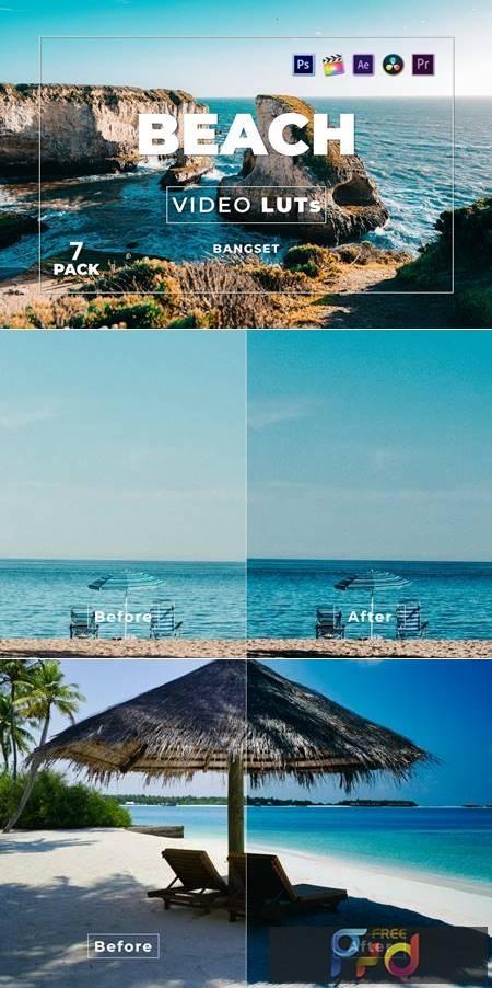 Bangset Beach Pack 7 Video LUTs U48SQDA 1