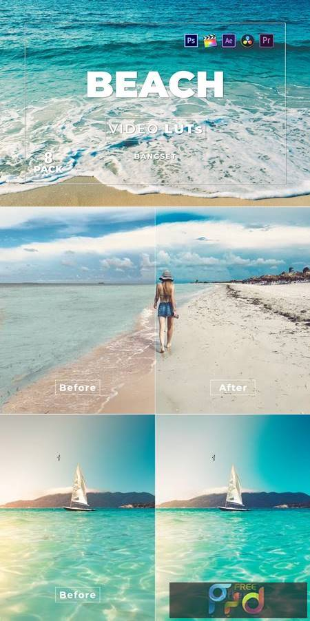 Bangset Beach Pack 8 Video LUTs SUKMW2W 1