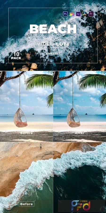 Bangset Beach Pack 10 Video LUTs DKAM8PG 1