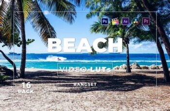 Bangset Beach Pack 16 Video LUTs QF8R8PV 7