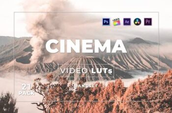 Bangset Cinema Pack 21 Video LUTs 92TRMX2 8