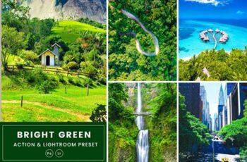 Bright Green Action & Lightrom Presets SGM74W9 5