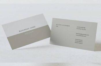 Horizontal Business Cards Mockup 5RN7KHB 7