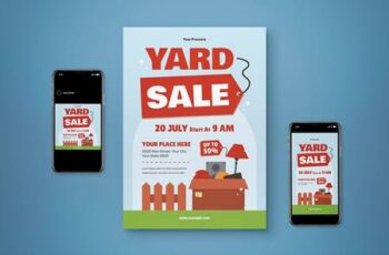 Yard Sale Flyer Set 6VBUEGY 4