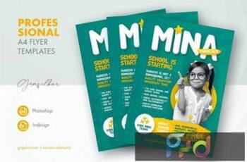 Kids School Flyer Templates 3EWFDK6 3