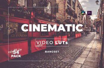 Bangset Cinematic Pack 54 Video LUTs Y85NNTJ 2