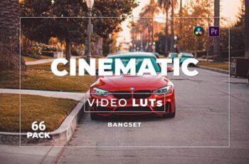 Bangset Cinematic Pack 66 Video LUTs FAJ67QH 8