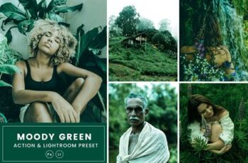 Moody Green Action & Lightrom Presets DXZ4GPJ 3