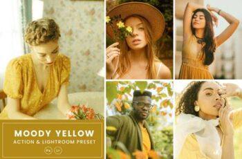 Moody Yellow Action & Lightrom Presets 2RCXKXQ 2