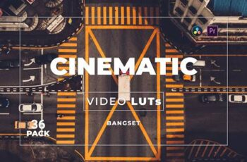 Bangset Cinematic Pack 36 Video LUTs NWW7YW3 6
