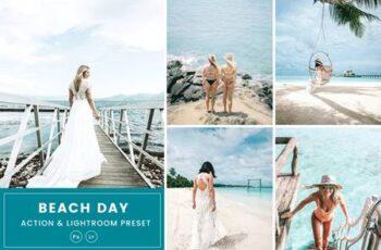 Beach Day Action & Lightrom Presets 2K5MGKB 6