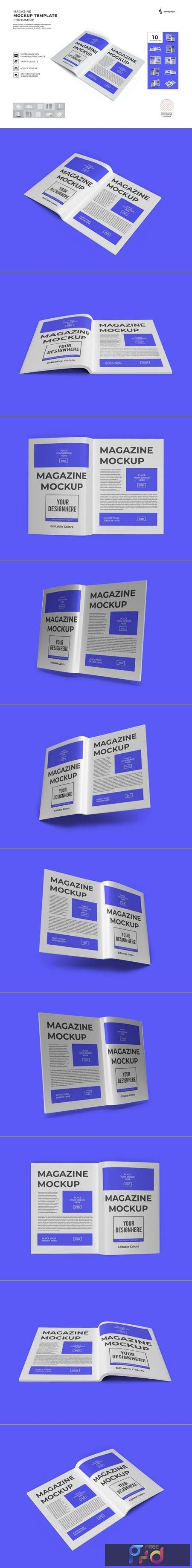 Magazine Paper Mockup Template Set 4BHPN9W 1