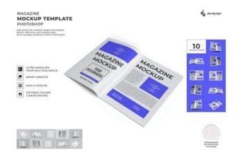 Magazine Paper Mockup Template Set 4BHPN9W 7