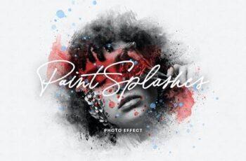 Paint Splashes Photo Effect GB44X5D 5