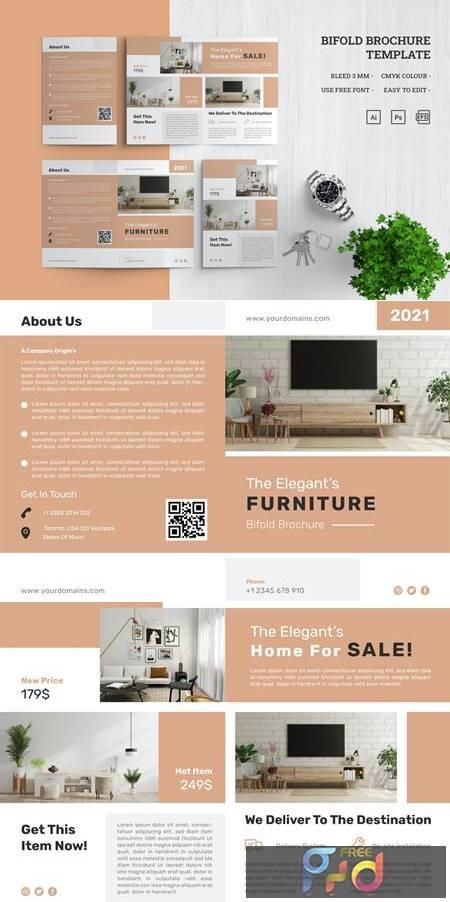 Furniture Bifold Brochure Template 4WPVMDZ 1