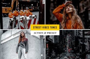 Street Vibes Tones Action & Lightroom Preset 362XUPP 2