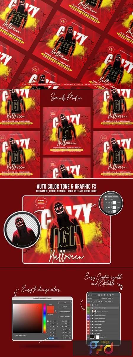 Halloween Night Flyer 7HMDJUF 1