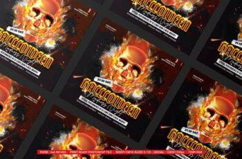 Halloween Night Flyer LMZU646 8