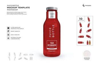 Juice Bottle Mockup Template Set HCFYZKX 2