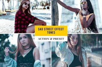 Sad Street Effect Tones Action & Lightroom Preset 9DJFDKK 6