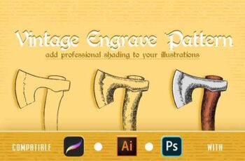 Vintage Engrave Pattern for Ps, Ai and Procreate H9YGW6K 1