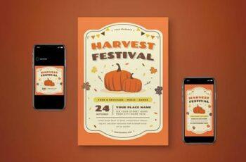 Harvest Festival Flyer Set 5JACF56 5