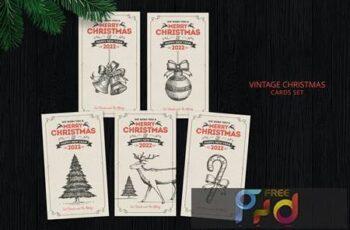 Vintage Christmas Cards CM8CBK3 3
