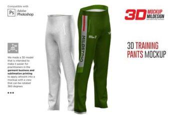 3D Training Pants Mockup 6365884 3