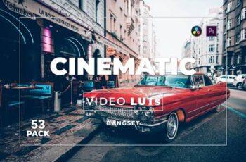 Bangset Cinematic Pack 53 Video LUTs HPZV4NV 5