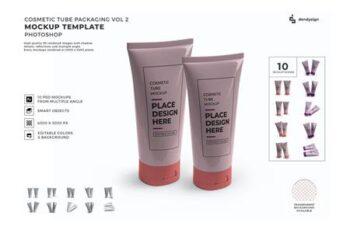 Cosmetic Cream Tube Mockup Template Set Vol 2 USZQQUA 5
