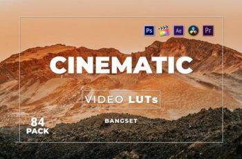 Bangset Cinematic Pack 84 Video LUTs FQE53FJ 5