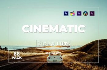 Bangset Cinematic Pack 88 Video LUTs 65GS97W 2