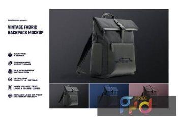 Vintage fabric backpack mockup DZFALUM 4