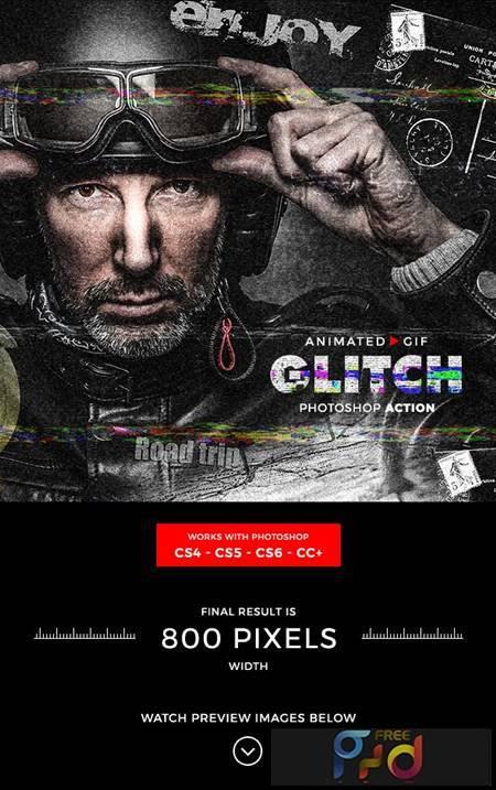 Animated Glitch Photoshop Action 21216240 1