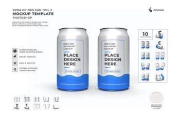 Drink Can Packaging Mockup Template Set Vol 2 JX8VR4C 12