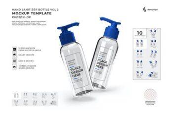 Hand Sanitizer Bottle Mockup Template Set Vol 2 HUF7P2G 10