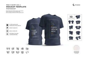 Men Tshirt Mockup Template Set Vol 2 A7HLV7C 8
