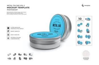 Metal Tin Jar Packaging Mockup Template Set Vol 2 DASGY2Q 7